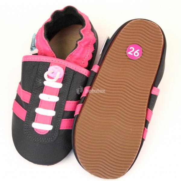 Kožené capáčky S.Baby- tenisky růžové 8e3c0876b3