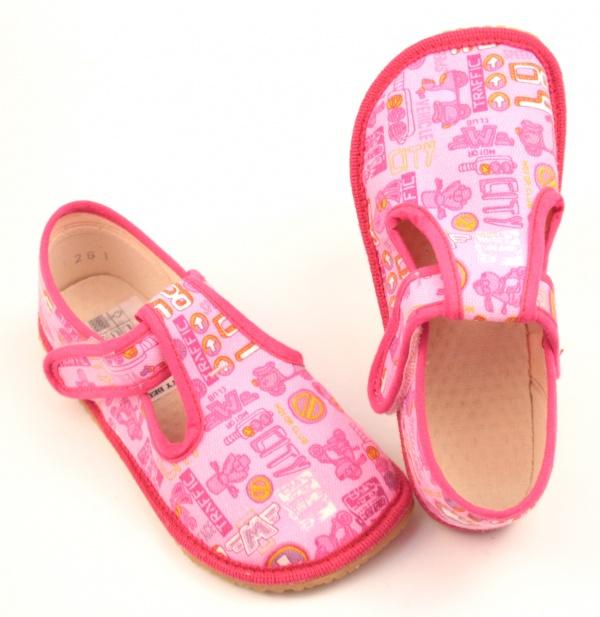 ac6cd4ee9c51 Barefoot papuče Boty Beda - růžová